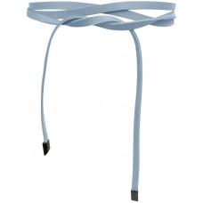 Super Slim 1 cm Bindegürtel - Ice Blue - Hell Blau