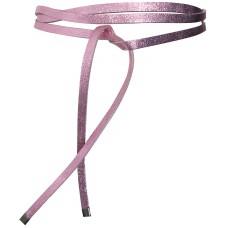 Super Slim 1 cm Bindegürtel - Pink Metallic - Rosa metallic
