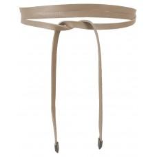 Super Slim 1 cm Bindegürtel - Nude - Rosè Beige