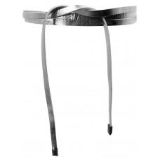 Super Slim 1 cm Bindegürtel - Bright Silver Metallic - Silber Metallic
