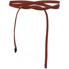 Super Slim 1 cm Bindegürtel - Brick Red - Ziegel Rot