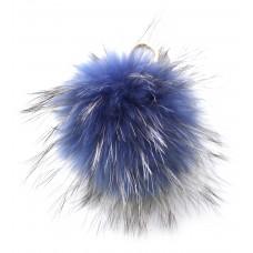 Pelzbommel - Denim -Blau