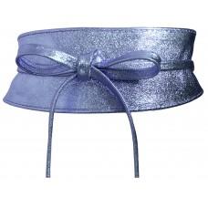 Obi Gürtel - Violet - Blau Metallic