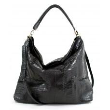 NYC Bag big - Dark Night - Python
